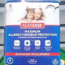 AllerEase Maximum Waterproof, Allergy and Bedbug Mattress Protector, King