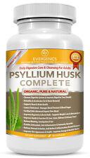 Evergenics Organic Psyllium Husk Complete. Premium Vegetarian Capsules!