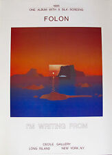JEAN MICHAEL FOLON Lithograph I'M WRITING FROM CYCLADES