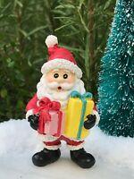 Miniature Dollhouse FAIRY GARDEN Figurine ~ Mini CHRISTMAS Santa with Presents