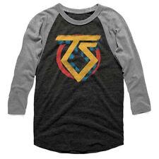 Twisted Sister-Logo-X-Large Tri-Blend Raglan Baseball Jersey T-shirt
