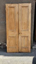 """More details for 40""""x 79""""  victorian pine 2 panel  pair of internal room dividing doors"""