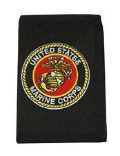 United States Marine Corps Mens Trifold Wallet Black USMC