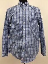 Vineyard Vines Murray Shirt Slim Fit Men's Large Button Front Plaid Check Blue