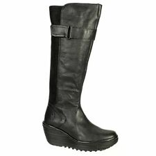 Fly London No Pattern Knee High Women's Boots