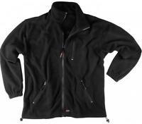 Scruffs Mens Work Fleece Warm Jumper Black Zip Pockets