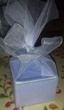 8 Periwinkle Satin & Net Favor Box Candy Boxes Wedding Decoration Bridal Shower
