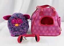 Furby Voodoo Mind of Its Own 2012 Purple Pink w/ Matching Bag Case Headphones