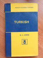Teach Yourself Turkish - G L Lewis HB/DJ