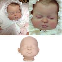 "20"" Unpainted Vinyl Doll Kits Lifelike Reborn Baby Dolls DIY Mold Head & Limbs"