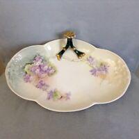 Vintage LIMOGES France W. Guerin Hand Painted Dresser Vanity Trinket Tray SIGNED