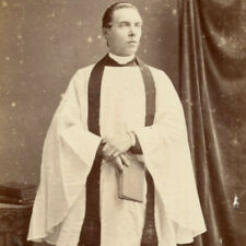 1880s MAN ANGLIAN VICAR DERBY CDV PHOTO CARTE DE VISITE VICTORIAN CHURCH
