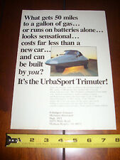 1980 URBASPORT TRIMUTER THREE WHEEL TRIKE - ORIGINAL AD