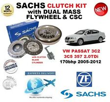 FOR VW PASSAT 2.0 TDi 170bhp SACHS CLUTCH KIT 2005-2012 with FLYWHEEL BOLTS CSC