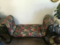 Antique Duncan Phyfe Style Sofa Claw Feet Mahogany Old Victorian Vintage 1800s