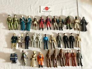Vintage Star Wars Figures lot Boba Fett Luke Obi Wan Chewbacca Tusken & more!