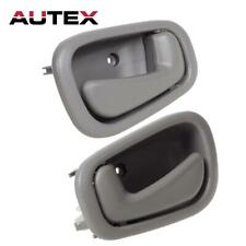 1Pair 79502 79503 Gray Inner Left and Right Door Handle For 98-02 TOYOTA COROLLA