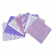 7X Lila Serie Stoffpaket Baumwolle Stoffreste Patchworkstoffe Cotton Fabric 50cm