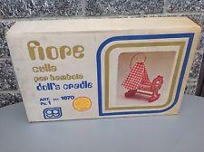 Vintage#70S Culla Grazioli Per Bambola Mod. Fiore# Made In Italy Doll Cradle Nib