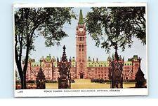 *Peace Tower Parliament Buildings Ottawa Canada Vintage Folding Postcard C11