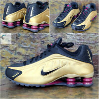 NIKE SHOX R4 Gs 'Metallic Gold' -  Size Uk 5.5 Eur 38.5  - BQ4000 003