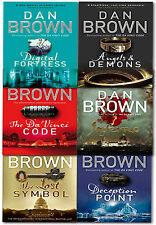 Dan Brown Robert Langdon Series 6 Books Collection Set Inferno, Lost Symbol, Ang