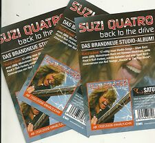Suzi Quatro-back to the drive 3x GERMANY PROMO CARDS (2006) BW Dolly Parton