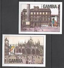 H0129 1990 GAMBIA SPORT ARCHITECTURE FOOTBALL WORLD SOCCER EVENT ITALY 2BL mnh