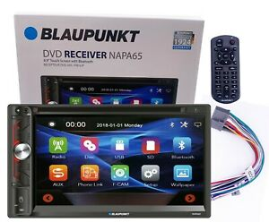 "Blaupunkt 6.9"" 2-Din Touchscreen DVD AM FM Receiver w/Bluetooth & Remote -NAPA65"