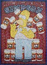 THE SIMPSONS ~ HOMER DUFF BEER MOSAIC 24x36 CARTOON POSTER Matt Groenig TV