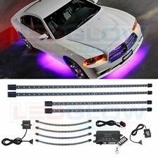 NEW! LEDGlow 4pc Purple Wireless Underbody Kit + 4pc Wheel Well Lights Package