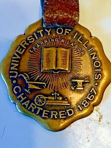 RARE VINTAGE University of Illinois Watch Fob CHARTERED 1867