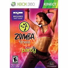 Zumba Fitness Join the Party Kinect Xbox 360 with zumba fitness dvd edition