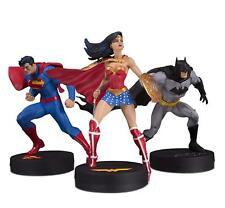 DC Collectibles Batman, Superman, Wonderman Set of 3 Statues By Jim Lee
