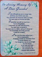 Graveside Remembrance Card in Loving Memory of a Dear Grandad 1
