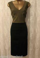 Karen Millen Structured Textured Contrast Shift Party Fit Pencil Dress  6 34