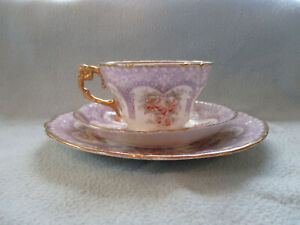 1920 Henry M Williamson & Sons Trio Cup Saucer & Side Plate Athens Pattern