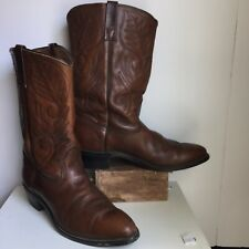 Red Wing Brown Leather Boots MenS 11.5 Pecos Western Vintage