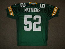 Clay Matthews Green Bay Packers Green Authentic Jersey by Reebok sz 48 New Mens