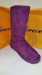Women's Forever Aling-8 Purple Snow Winter Shoes Boots Size 5.5-10 Brand New