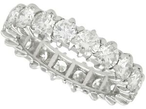 3.24ct Diamond and Platinum Full Eternity Ring - Vintage French Circa 1980