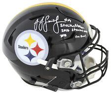 Steelers JuJu Smith-Schuster Signed Authentic Speed Flex Full Size Helmet BAS 1