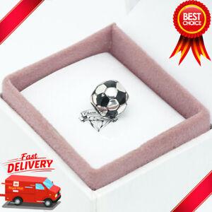 Pandora, Football Charm, Black, Sport Game, Ball, Team, Cup 790406