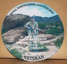 Royal Northumberland Fusiliers vinyl sticker personalised free