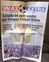 Schalke erreicht UEFA Cup Platz + WAZ Extra Sonderausgabe vom 19.Mai 1996 -/287