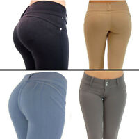 Womens High Waisted Skinny Jeggings Jeans Stretch Long Pencil Pants Trousers SZS