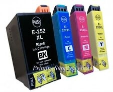4PK Hi-Yield BK/C/M/Y Ink For Epson 252XL 252 WF3620 WF3640 WF7610 WF7620 WF7110