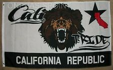 3'x5' California Pride Flag Grizzly Bear Gay GLBT Lesbian Bisexual Banner 3x5
