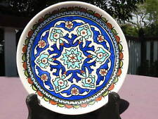 Turkish hand-made ceramic plate el-hamra style