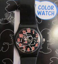 Smurf Color Watch *Black Edition * Kinder Quarz Uhr *  Motiv Schlumpf * Neu OVP